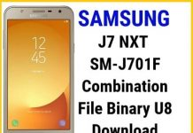 samsunng j701f u8 combination file