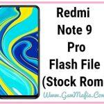 redmi note 9 pro flash file