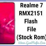 realme 7 flash file