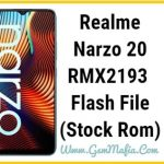realme narzo 20 flash file
