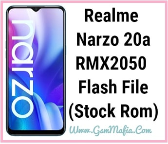 realme narzo 20a flash file