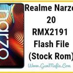 realme narzo 20 flash file